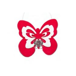 Portaconfetti farfalla in pannolenci feltro nascita battesimo