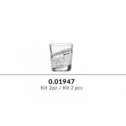 Kit 2 bicchieri in cristallo GRIFFE e argento puro - Argenesi