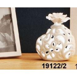 Lampada/Diffusore Cuore in porcellana traforata