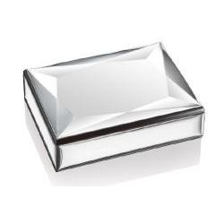 Scatola linea Losanga con placca in metallo argentato - Atelier