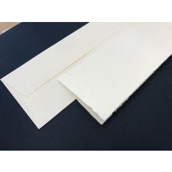 Partecipazione rettangolare semplice carta avorio ruvida