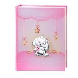 Album portafotografie con coniglietto in rosa - 20x25cm