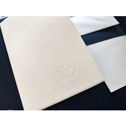 Partecipazione libro semplice carta avorio ruvida