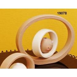 Lampada led mappamondo con doppio cerchio in porcellana
