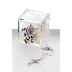 Scatolina in plex con cappello cresima e rosario bomboniera - Memory 2016