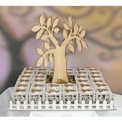 Portaconfetti albero della vita set 32 scatole
