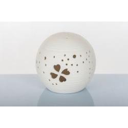 Lampada led sfera traforata in porcellana - BOMBONIERE SOLIDALI