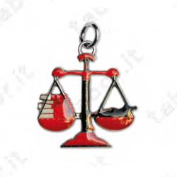 Ciondolo bilancia delle giustizia - Bomboniera laurea