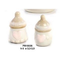 Accessorio biberon bimba per bomboniere - Mandorle