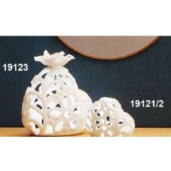 Lampada/Diffusore Cuore in porcellana traforata e led