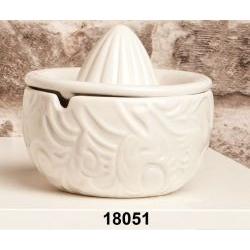 Spremiagrumi in ceramica bianca