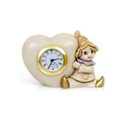 Gnomo della fortuna con orologio cuore bomboniera comunione- Memory 2016