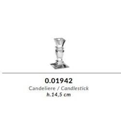 Candeliere in cristallo GRIFFE e argento puro - Argenesi