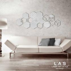 Quadro con rombi tema geometrico - Laser Art Style