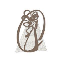 Capezzale in legno moderno con angelo stilizzato - Laser Art Style