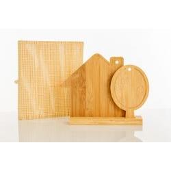 Tagliere Casetta con Albero d'arredo con appoggio in legno di bambù - BOMBONIERE SOLIDALI