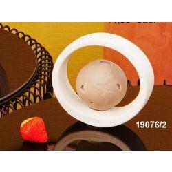 Lampada led mappamondo con cerchio in porcellana