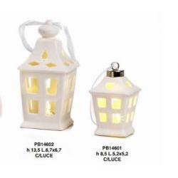 Lanterna con luce led e traforo finestre - Mandorle