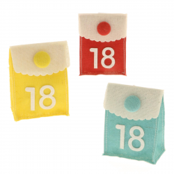 Scatolina in tela con 18 per 18esimo compleanno