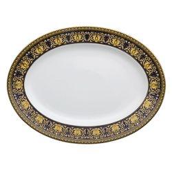 Piatto Ovale MEDUSA BLU 40 cm Rosenthal Versace