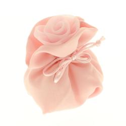Sacchetto porta confetti chiusura rosa