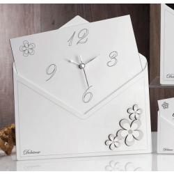 Orologio a forma di lettera con fiori Charlotte