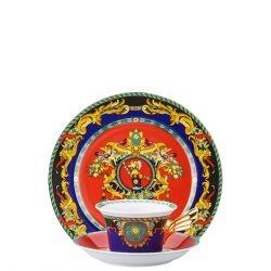 Piatto + Tazza Tè LE ROI SOLEIL Rosenthal Versace 25 ANNI