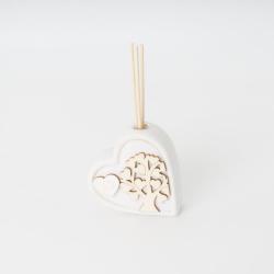 Diffusore cuore con albero della vita in legno