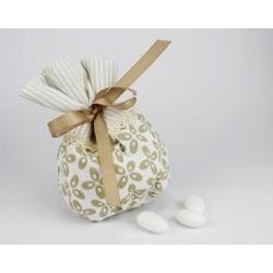 Sacchetto porta confetti righe linea MARTINA - bomboniera per nozze o per prima comunione