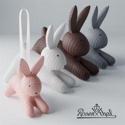 Coniglio pendente in porcellana - RABBITS