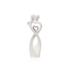 Statua innamorati con cuore argento simbolo infinito - Bongelli