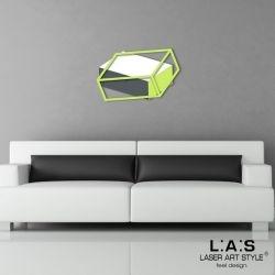Quadro laser con rettangolo effetto 3D - linee geometriche - Laser Art Styl