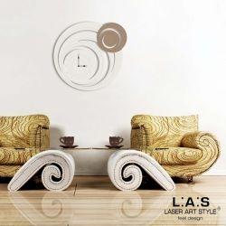 Orologio con cerchi da muro stilizzato - Laser Art Style