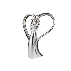 Statua con ali d'argento coppia innamorati - Bongelli