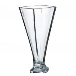 Vaso in cristallo Quadro 33 cm