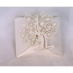 Scatolina portaconfetti con albero della vita