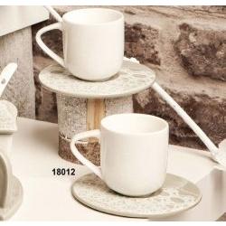 Coppia Tazze da caffè in ceramica