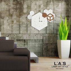Orologio da parete con disegni geometrici - Laser Art Style