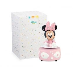 Bomboniera Disney in resina Minnie rosa carillon