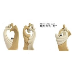 Coppia Innamorati bicolore con cuore argentato - Mandorle