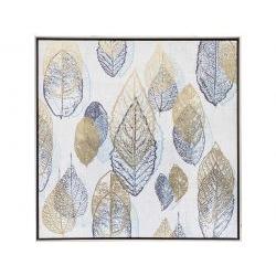 Quadro con cornice stampa serigrafica foglie - L'Oca Nera