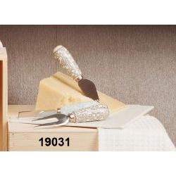 Set 3 coltelli da formaggio manico in porcellana