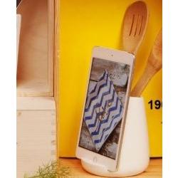 Porta mestoli e alloggio tablet in porcellana