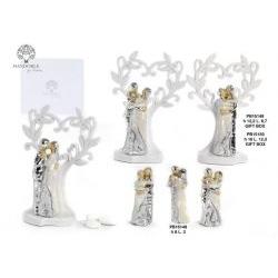 Coppia Innamorati con albero argentata - Mandorle