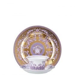 Piatto + Tazza Tè LES GRAND DIVERTISSEMENT GOLD Rosenthal Versace 25 ANNI