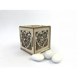 Scatolina legno con cuore