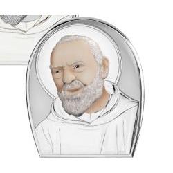 Capezzale Padre Pio linea Sacri argentato - Atelier