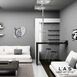 Orologio da parete stilizzato gufo/civetta - Laser Art Style