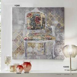 Quadro stampa serigrafica sedia barocca - L'Oca Nera