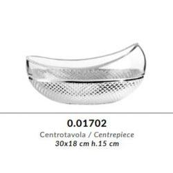 Centrotavola in cristallo GRIFFE e argento puro - Argenesi
